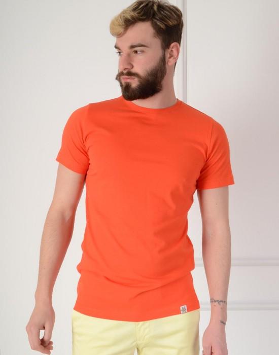 Basic Slim Fit Nar Çiçeği Erkek Tişört