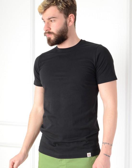 Basic Slim Fit Siyah Erkek Tişört