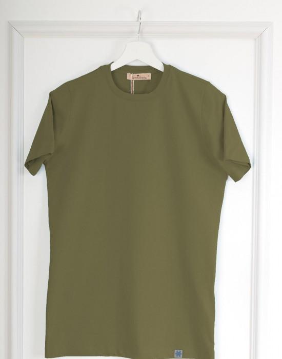 Basic Slim Fit Haki Erkek Tişört