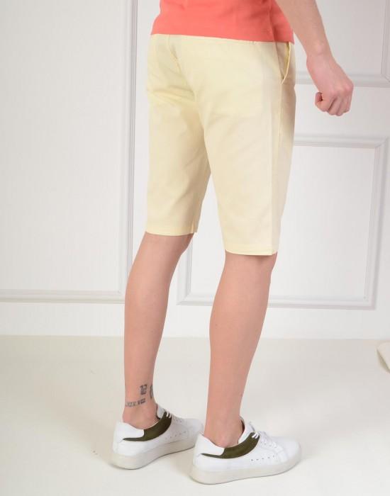 Bermuda Slim Fit Sarı Erkek Şort