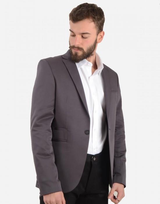 Blazer Gri Erkek Ceket Hisar